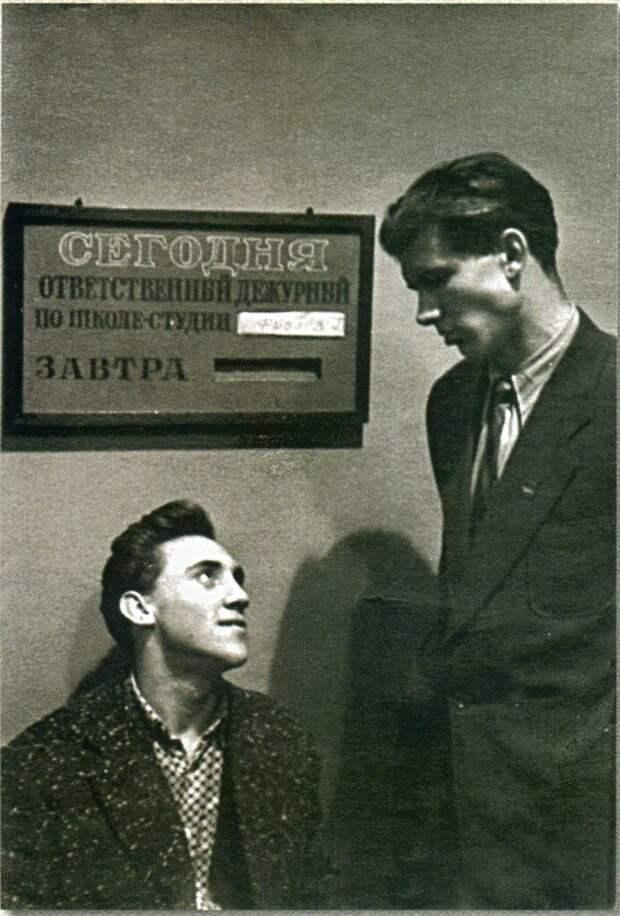 1956-60, Школа-студия МХАТ, с Г. Фроловым