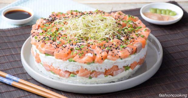 Вот рецепт суши-торта, от которого будут в шоке все ваши близкие