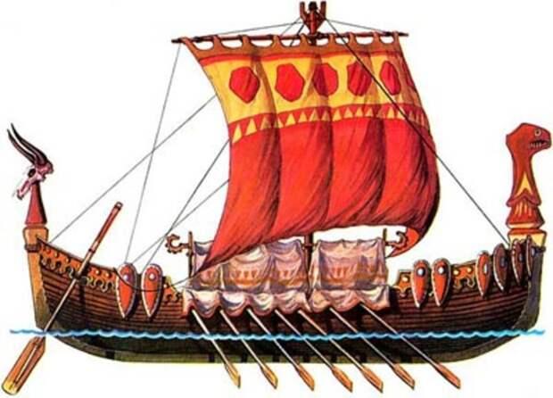 Основной вид боевого и торгового корабля
