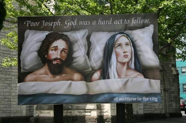 St Matthew-in-the-City: Joseph & Mary, St Matthew-in-the-city, M&c Saatchi, Печатная реклама