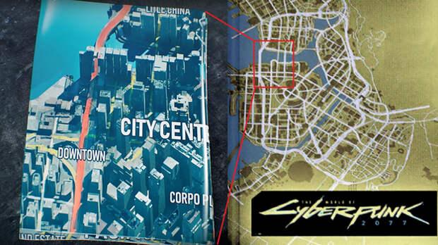 Карта Cyberpunk 2077 настоящими размерами шокировала геймеров