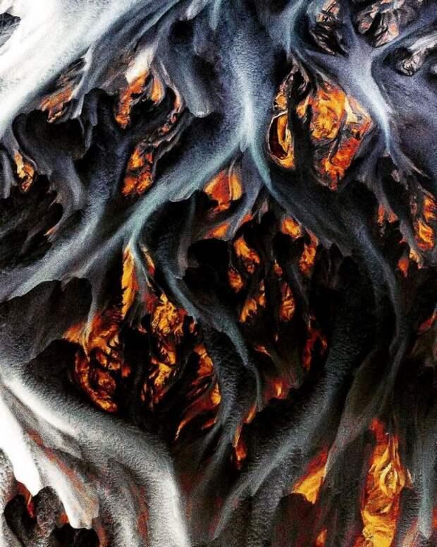 Потрясающие снимки Исландии, сделанные с высоты птичьего полёта