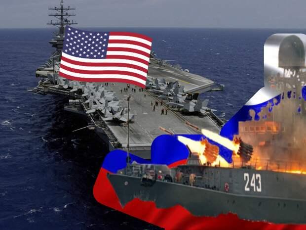 """Россия ответила США маневрами военного флота на провокации их ВМС на Бл.Востоке - сообщает """"ПолитРоссия"""""""