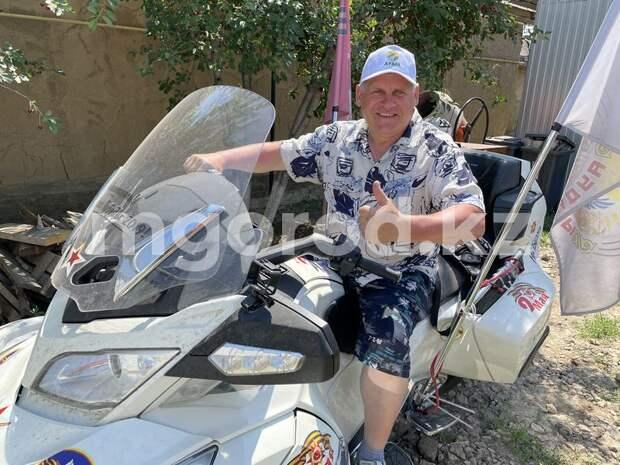 В Уральске у путешественника украли ключи от трицикла