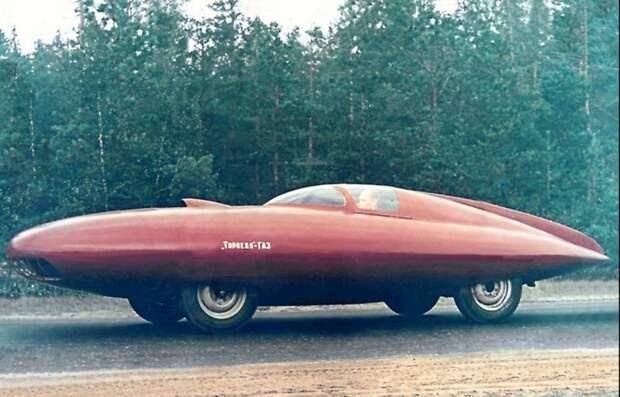 ГАЗ-Торпеда, 1950 год, советский концепт гоночного автомобиля автомир, аэродинамика, из прошлого, конструкция, обтекаемость. формы