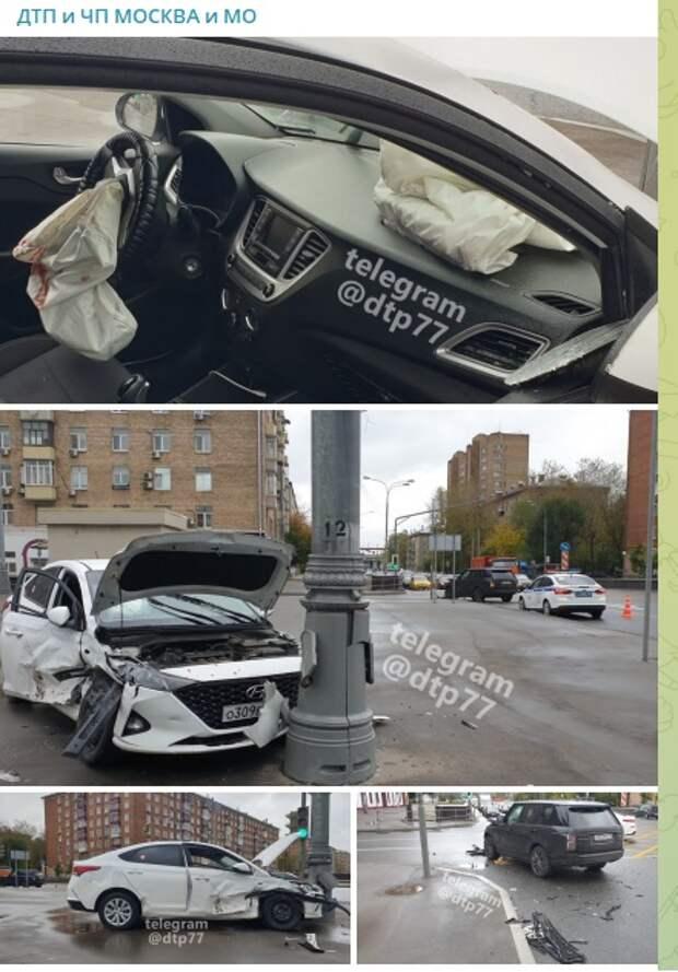На пересечении Дмитровского шоссе и 3-его Нижнелихоборского проезда произошла авария