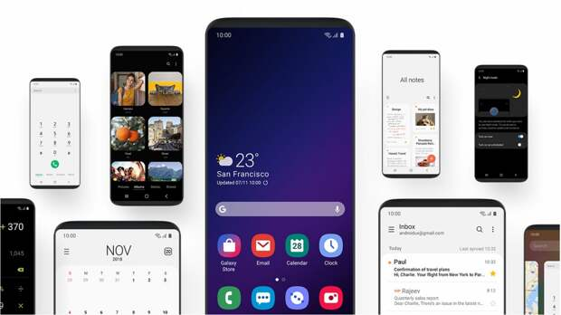 Samsung показала интерфейс Galaxy S10