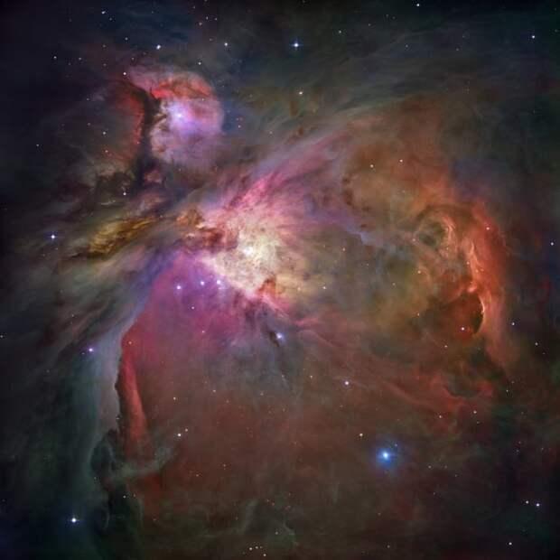 Туманность Ориона, где формируются тысячи новых звезд ТУМАННОСТИ, звезды, космический телескоп, космос, необычно, планеты, снимки, фото