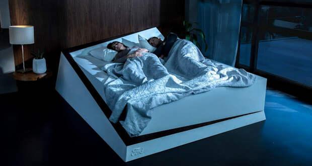 Ford представила «умную» кровать, которая не позволяет спящему рядом человеку залезть на чужую половину