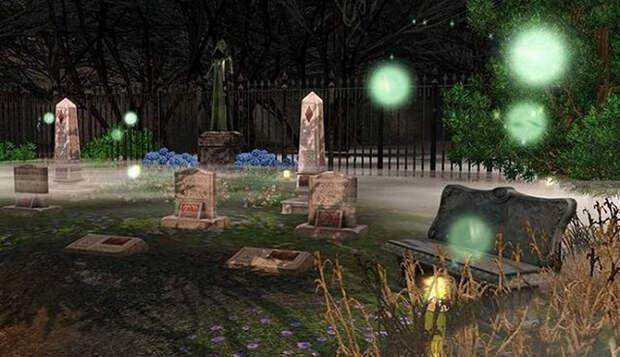 О загадочных светящихся шарах над могилами