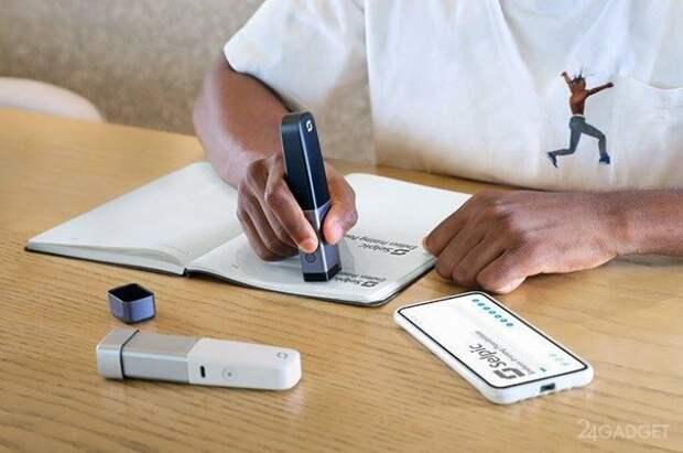 Компактный принтер напечатает текст под диктовку пользователя
