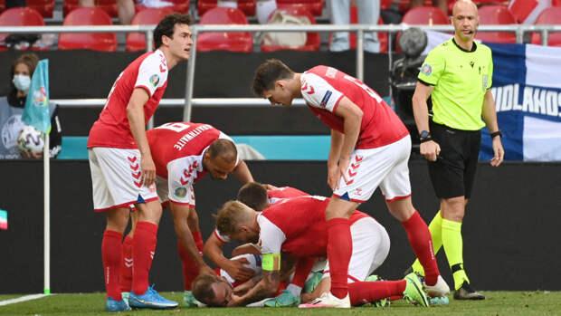 Футболисты Бельгии и Дании прервут матч на десятой минуте в знак солидарности с Эриксеном