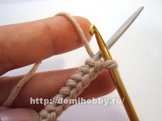 Вязание спицами. Набор петель косичкой, с открытыми петлями