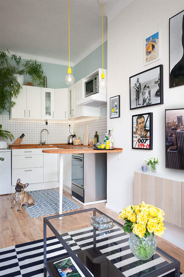 Фотография: Кухня и столовая в стиле Скандинавский, Малогабаритная квартира, Квартира – фото на InMyRoom.ru