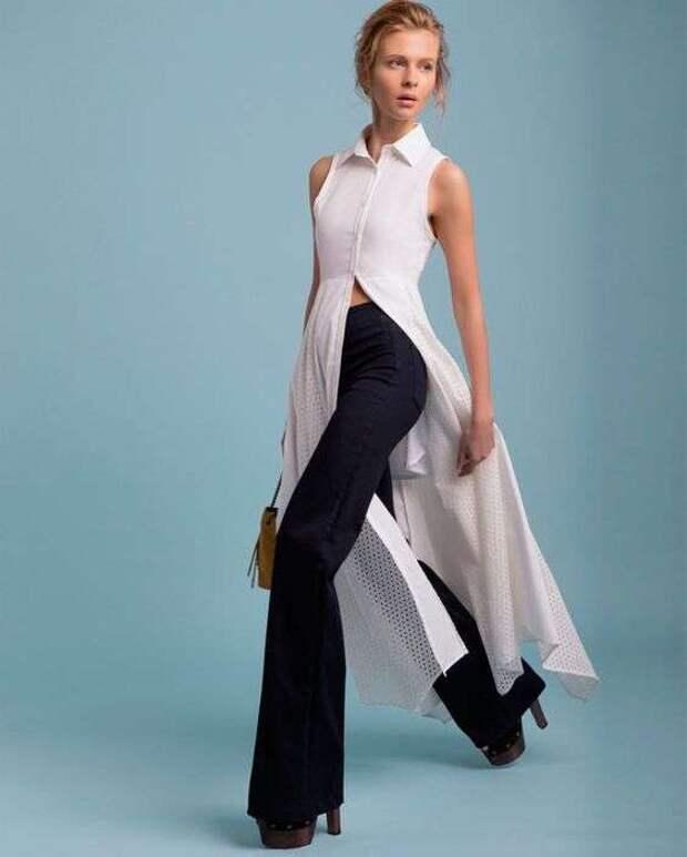 Рубашка-платье  как накидка