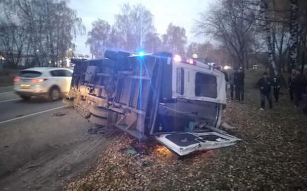 Автобус протаранил маршрутку. Есть жертвы и пострадавшие
