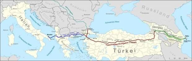 Газопровод-конкурент «Турецкого потока» достиг Италии
