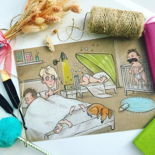 10 потрясающих рисунков про будни российской мамы
