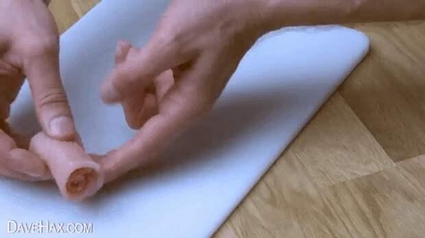 Как сделать съедобные розы из бекона