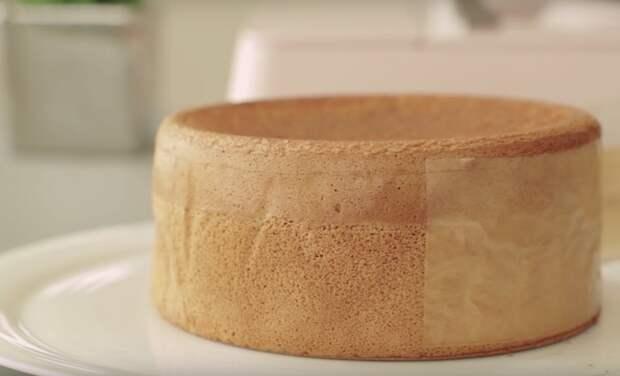 Невероятно воздушный бисквит без выпечки