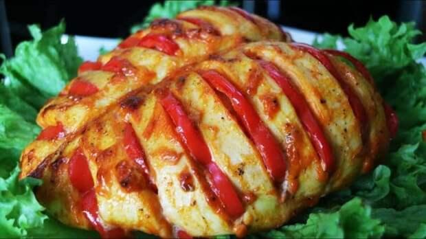 Куриные грудки с помидорами в духовке