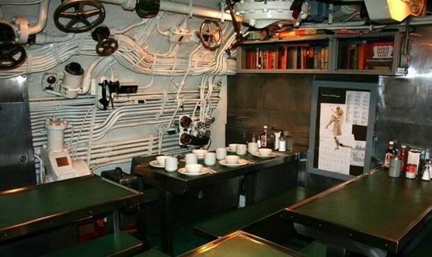 Комната прием пищи на американской субмарине: армия, подводные лодки, флот