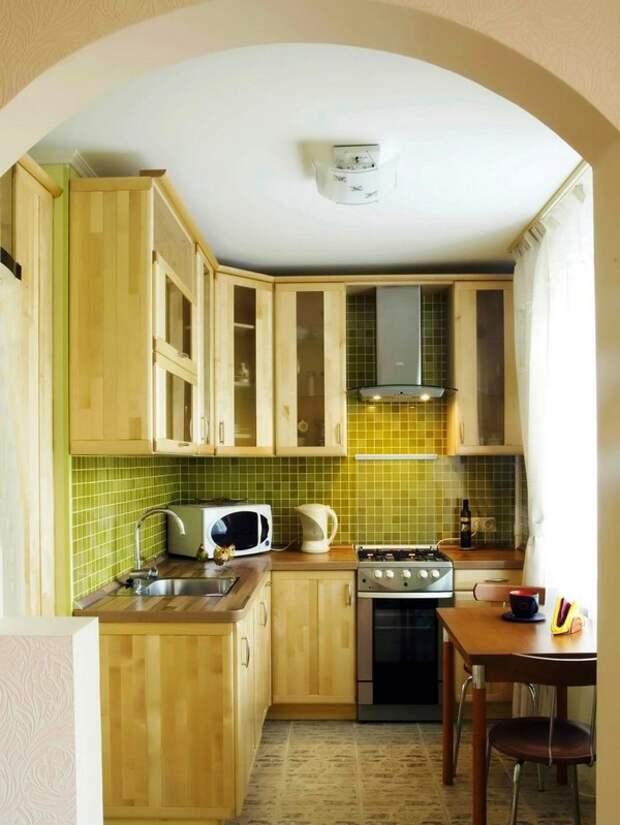 Как сэкономить место на маленькой кухне фото