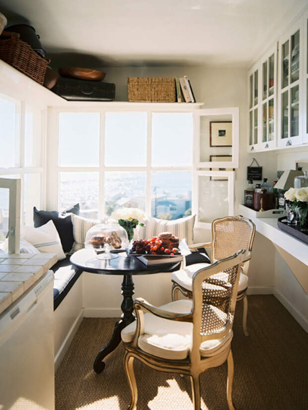 Дизайн маленькой кухни: обеденный стол - 03 - Портал Домашний