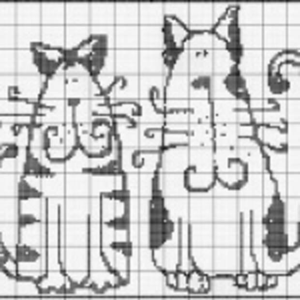 ВЫШИВАЙКА. Кошки. Схемы для вышивки