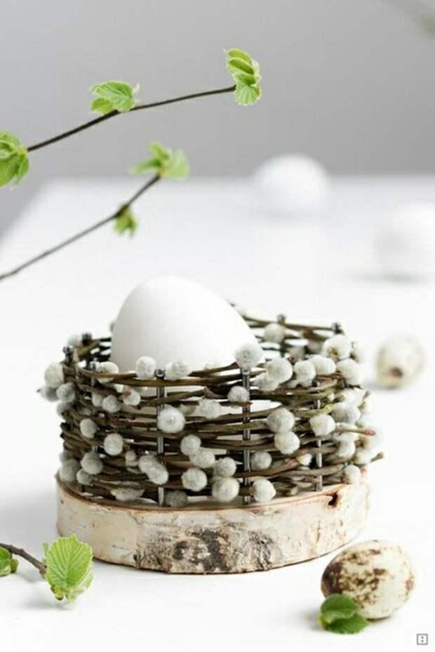 Сервировочная корзинка для 1 яйца diy
