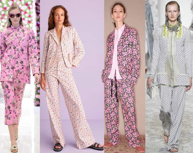 Костюмы в пижамном стиле