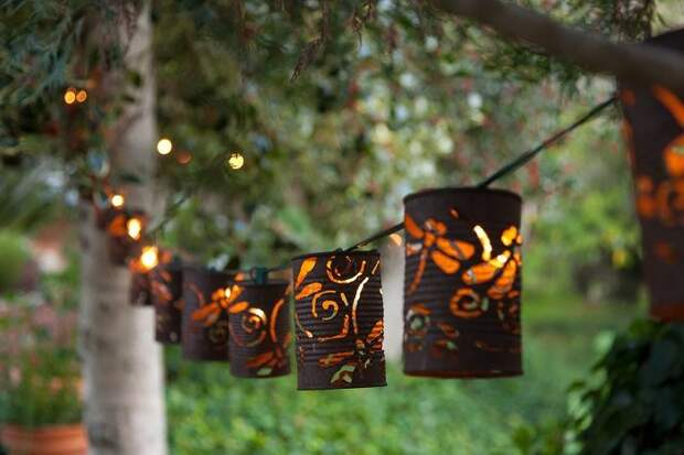 Красивые садовые фонарики своими руками: 22 интересных примера