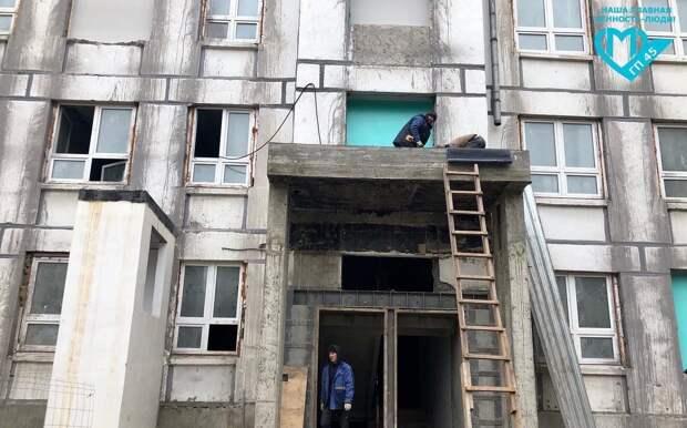 Поликлинику на Флотской готовят к отделочным работам
