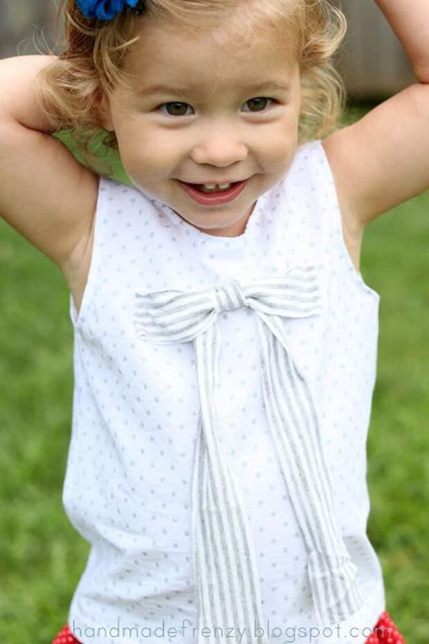 Картинка шьем детский топик для девочки своими руками