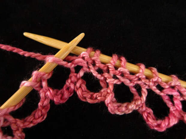 Техника вязания. Наборный край для шалей и не только