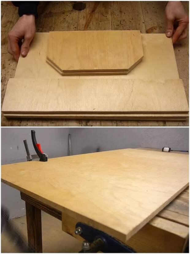 Сначала нужно вырезать все необходимые элементы и зашкурить торцы. | Фото: youtube.com/ © Men's Craft.