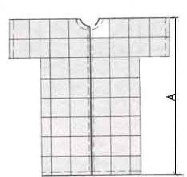 Выкройка необычного женского домашнего халата