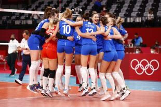 Российские волейболистки обыграли команду США в матче олимпийского турнира
