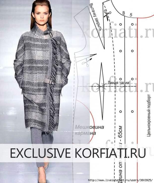 Знаменитое пальто от Max Mara: выкройка прямого пальто в клетку