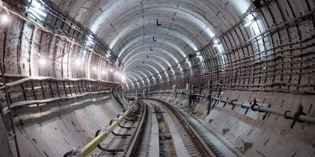 Собянин дал старт проходке двухпутного тоннеля на восточном участке БКЛ.Фото: Е. Самарин mos.ru