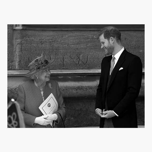 Принц Гарри с бабушкой, королевой Елизаветой II