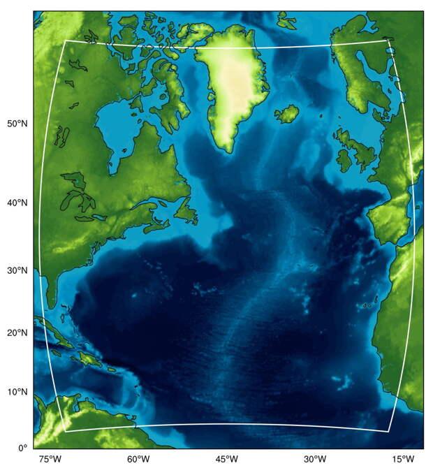 Построена модель параметров атмосферы над Северной Атлантикой за последние 40 лет