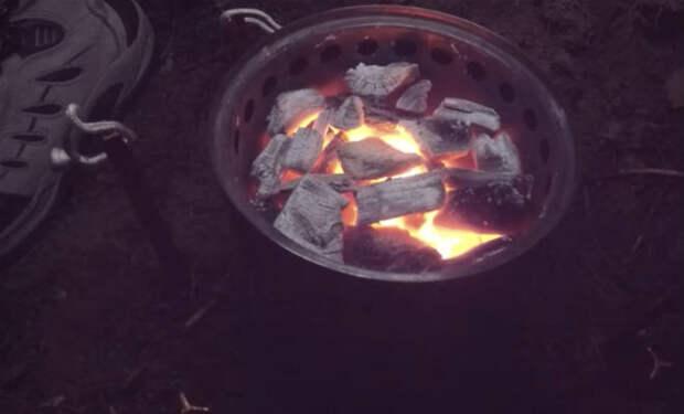 Обогреваем палатку без печи: лесник показал метод