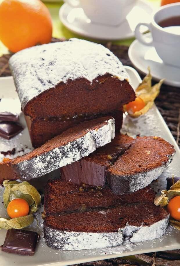 Шоколадный кекс с апельсиновым джемом