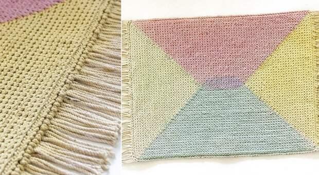 как связать коврик своими руками