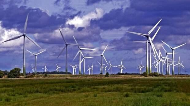 В Европе активно используются ветряки