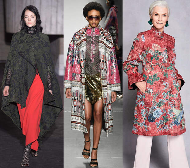 Гобеленовые ткани в модной одежде