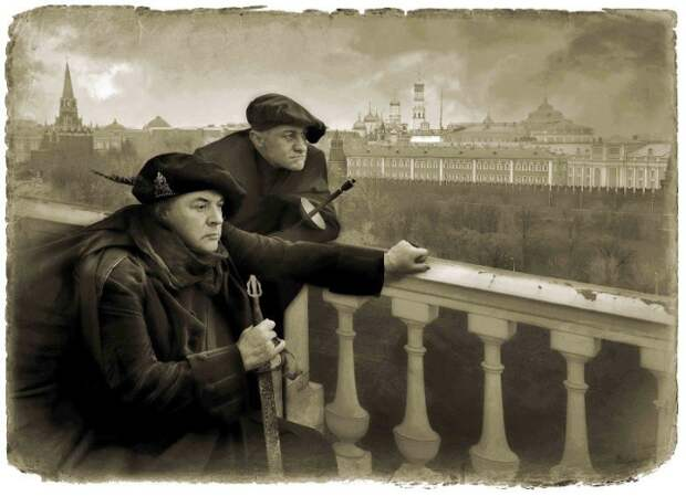 Воланд и Азазелло. «Мастер и Маргарита». Фотоиллюстрации Елены Мартынюк.