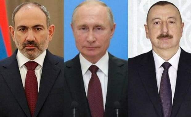 Путин, Алиев иПашинян обсудят дальнейшие шаги вНагорном Карабахе