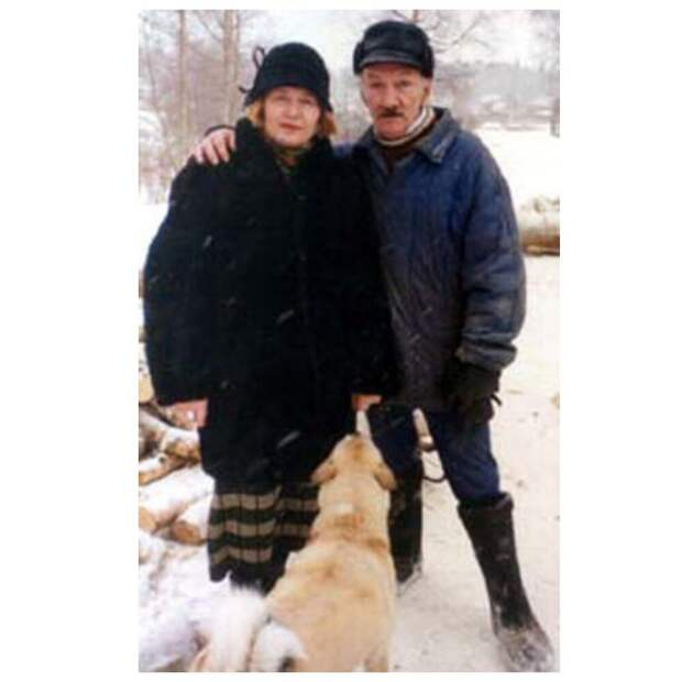Актер со второй женой Верой Назаровной Бровкиной